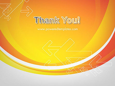 Arrows on Orange PowerPoint Template Slide 20