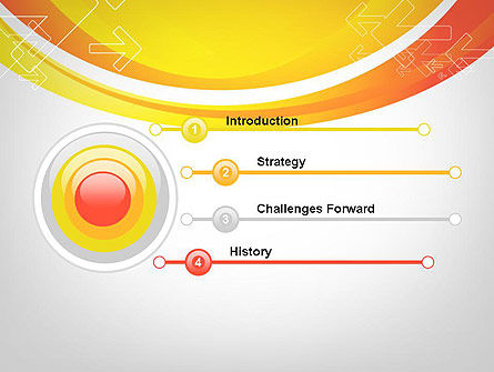 Arrows on Orange PowerPoint Template Slide 3