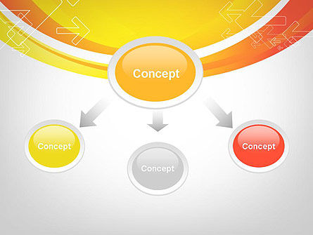Arrows on Orange PowerPoint Template Slide 4
