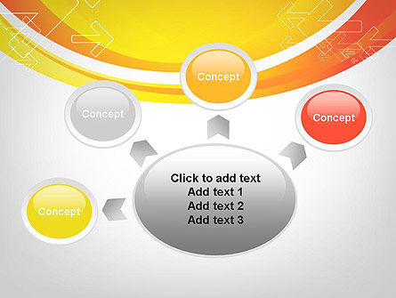 Arrows on Orange PowerPoint Template Slide 7