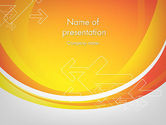 Abstract/Textures: Arrows on Orange PowerPoint Template #12104
