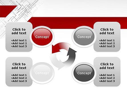 Multi-Directional Arrows PowerPoint Template Slide 9
