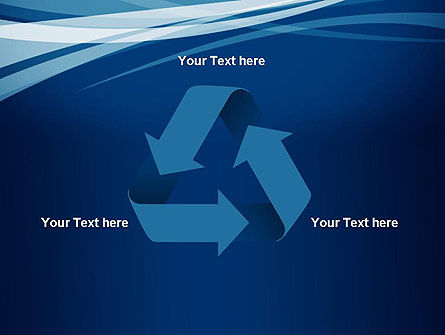 Layered Blue Transparent Curves PowerPoint Template Slide 10