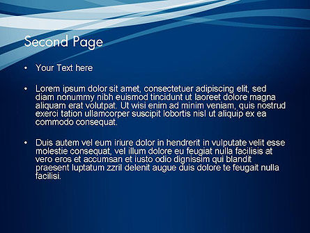 Layered Blue Transparent Curves PowerPoint Template, Slide 2, 12107, Abstract/Textures — PoweredTemplate.com