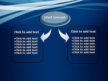 Layered Blue Transparent Curves PowerPoint Template, Slide 4, 12107, Abstract/Textures — PoweredTemplate.com