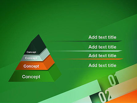 Tilted Line With Numbers PowerPoint Template Slide 12