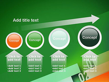 Tilted Line With Numbers PowerPoint Template Slide 13