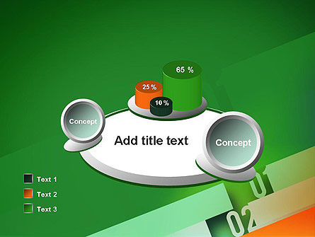 Tilted Line With Numbers PowerPoint Template Slide 16