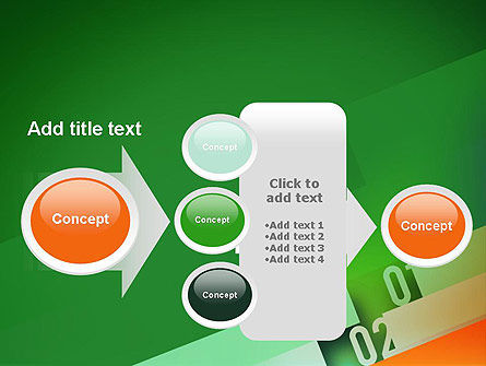Tilted Line With Numbers PowerPoint Template Slide 17