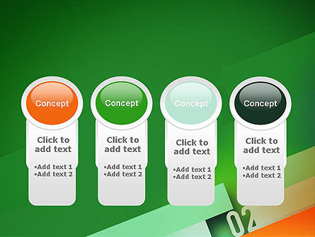 Tilted Line With Numbers PowerPoint Template Slide 5