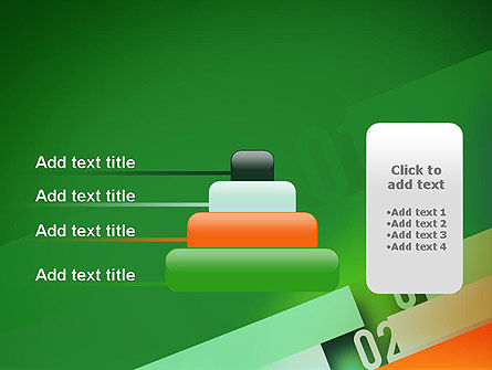 Tilted Line With Numbers PowerPoint Template Slide 8