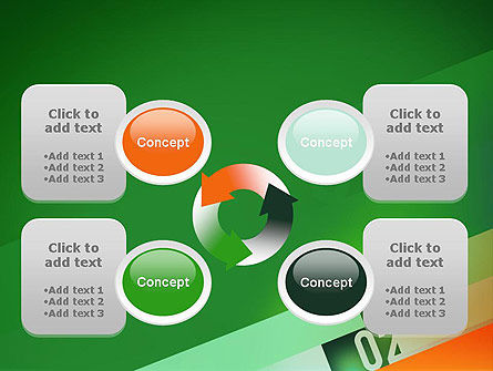 Tilted Line With Numbers PowerPoint Template Slide 9