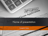 Financial/Accounting: Loan Application Theme PowerPoint Template #12113