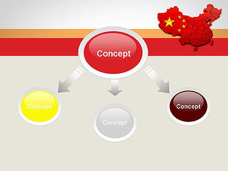 Map of China PowerPoint Template, Slide 4, 12114, Flags/International — PoweredTemplate.com
