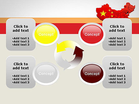 Map of China PowerPoint Template Slide 9