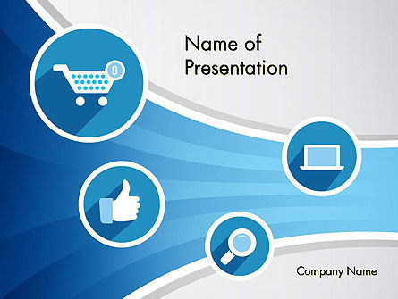 e-commerce icons powerpoint template, backgrounds | 12115, Presentation templates