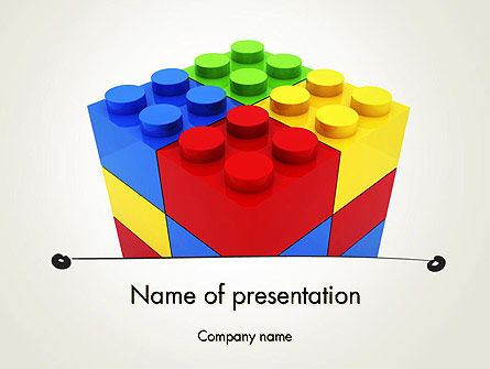 stacked lego blocks powerpoint template backgrounds 12116
