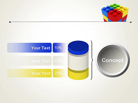 Stacked Lego Blocks PowerPoint Template Slide 11