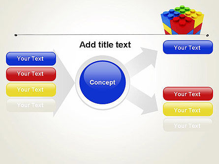 Stacked Lego Blocks PowerPoint Template Slide 14