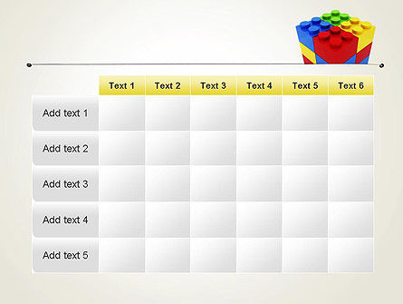 Stacked Lego Blocks PowerPoint Template Slide 15