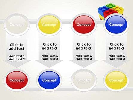 Stacked Lego Blocks PowerPoint Template Slide 18