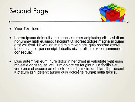 Stacked Lego Blocks PowerPoint Template Slide 2