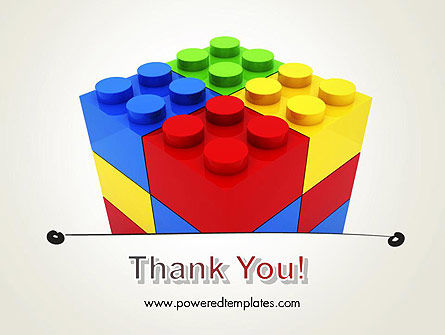 Stacked Lego Blocks PowerPoint Template Slide 20