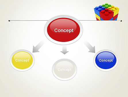 Stacked Lego Blocks PowerPoint Template Slide 4