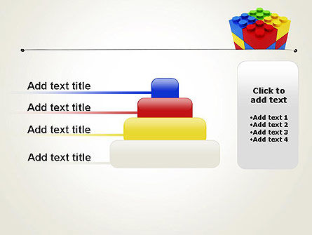 Stacked Lego Blocks PowerPoint Template Slide 8