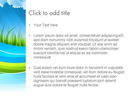 Clean Nature PowerPoint Template, Slide 3, 12117, Nature & Environment — PoweredTemplate.com
