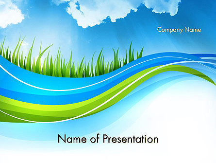 Clean Nature PowerPoint Template, 12117, Nature & Environment — PoweredTemplate.com