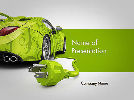 green automotive innovations powerpoint template, backgrounds, Presentation templates
