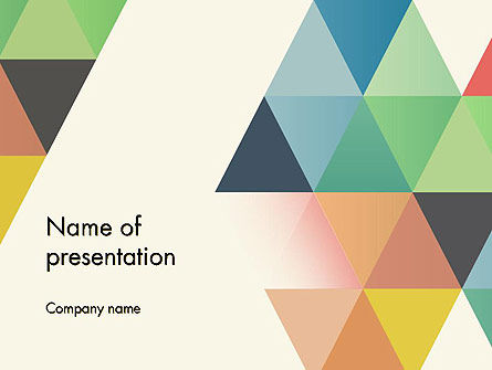 Abstract/Textures: Colored Triangles PowerPoint Template #12119