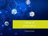 Technology and Science: Network Concept with Hexagons PowerPoint Template #12121