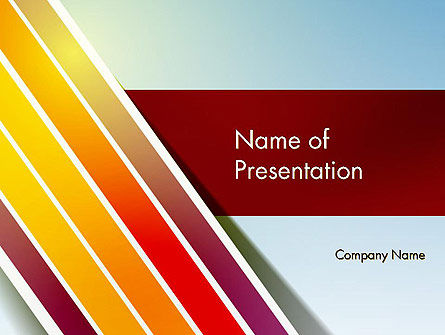 Tilted Stripes PowerPoint Template