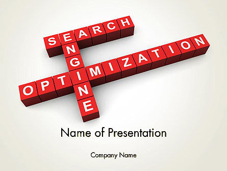 SEO Crossword PowerPoint Template, 12123, Careers/Industry — PoweredTemplate.com