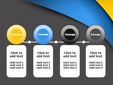 Colored Curves PowerPoint Template Slide 5