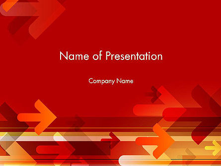 Arrows on Red Background PowerPoint Template
