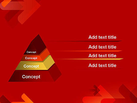 Arrows on Red Background PowerPoint Template Slide 12