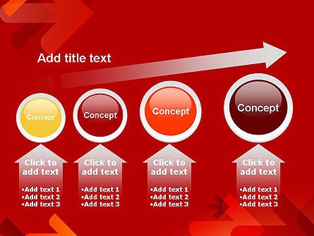 Arrows on Red Background PowerPoint Template Slide 13