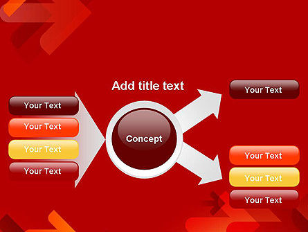 Arrows on Red Background PowerPoint Template Slide 14