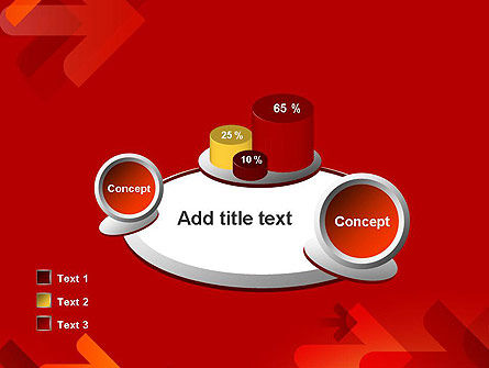 Arrows on Red Background PowerPoint Template Slide 16