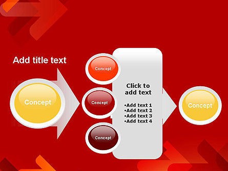 Arrows on Red Background PowerPoint Template Slide 17