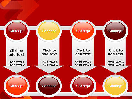 Arrows on Red Background PowerPoint Template Slide 18