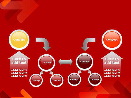 Arrows on Red Background PowerPoint Template Slide 19