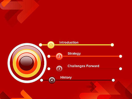 Arrows on Red Background PowerPoint Template Slide 3