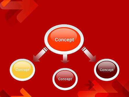 Arrows on Red Background PowerPoint Template Slide 4