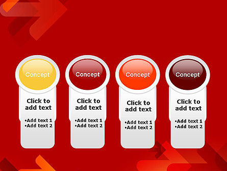 Arrows on Red Background PowerPoint Template Slide 5