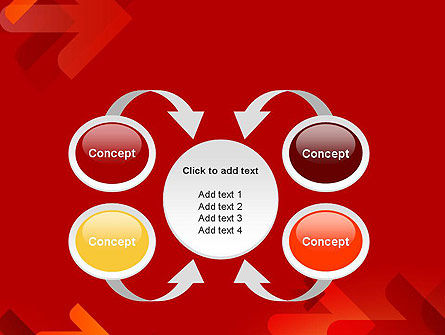 Arrows on Red Background PowerPoint Template Slide 6