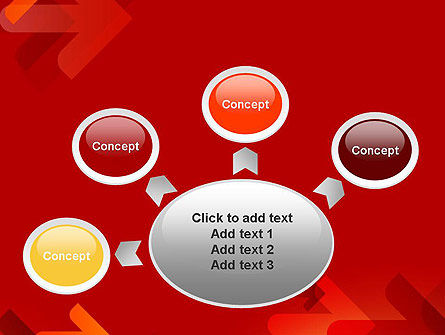 Arrows on Red Background PowerPoint Template Slide 7